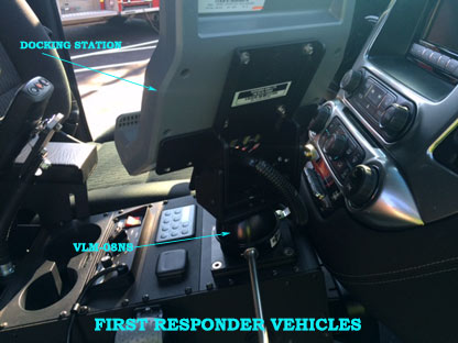 VLM-08 Vehicle Computer Mount in Firetruck, first response vehicles - Rossbro - Québec, Canada