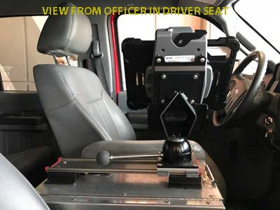 VLM-08 Vehicle Computer Mount in Firetruck, rail driver view first response - Rossbro - Québec, Canada